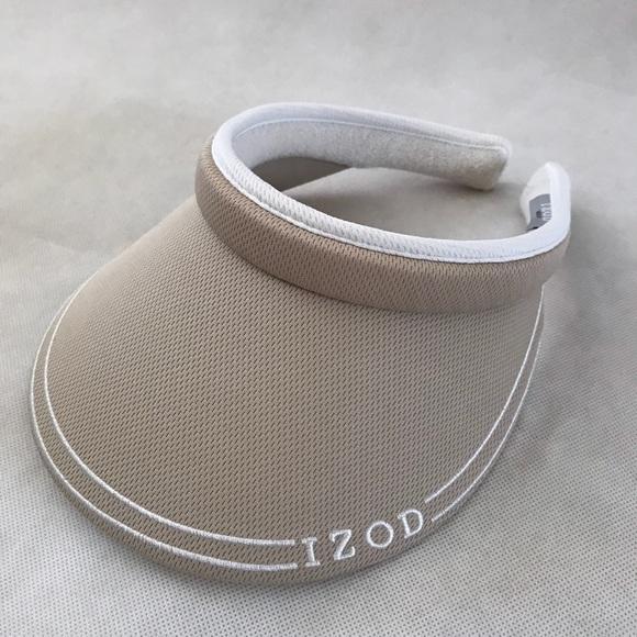 Izod Accessories - IZOD beige golf hat visor ladies 82951f700c9
